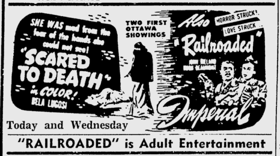 Scared To Death, Ottawa Citizen, January 19, 1948 b
