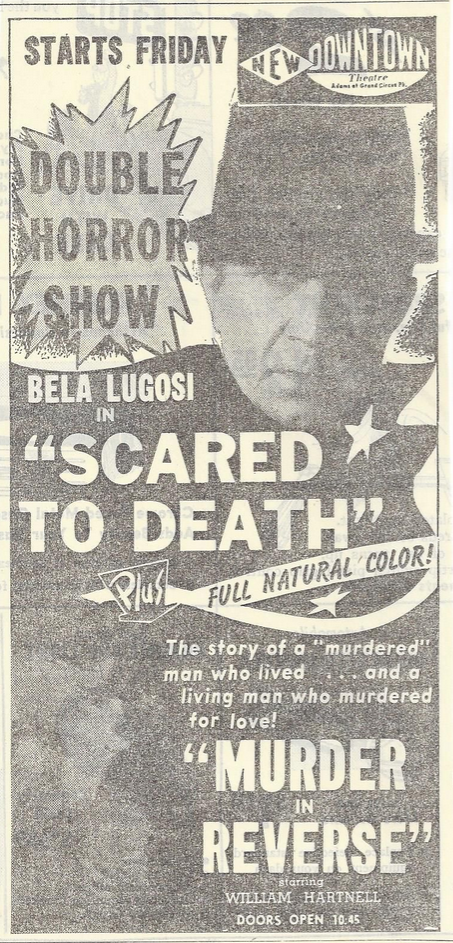 Scared to Death, September 1947