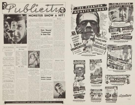 フランケンシュタインの息子1947ダブル法案の再リリースプレスブック2