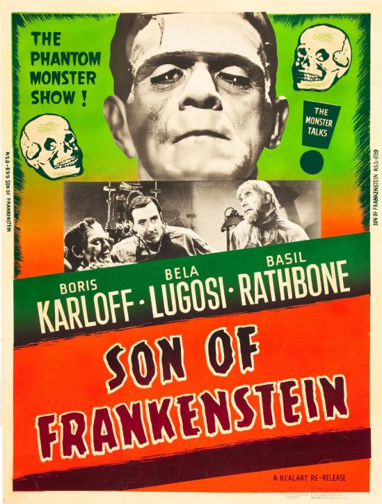 フランケンシュタイン1953再リリースの30X40の息子