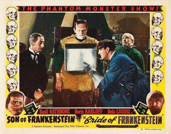 フランケンシュタイン1953再リリースロビーカード1の息子