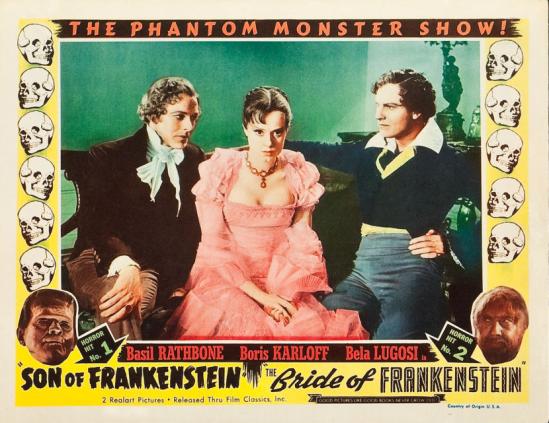 フランケンシュタイン1953の再リリースのロビーカード6の息子