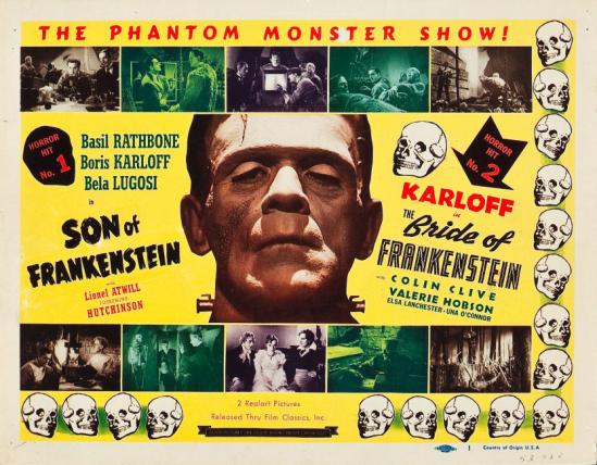 フランケンシュタイン1953の息子の再リリースのロビーカード