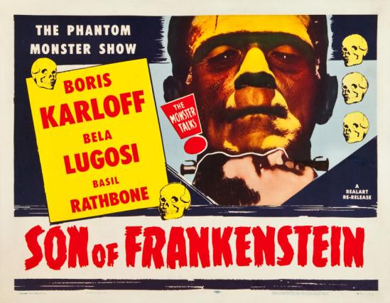 フランケンシュタイン1953再リリースポスターの息子