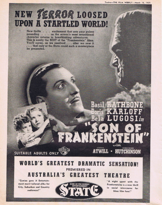Son Of Frankenstein The Film Weekly, March 16 1939
