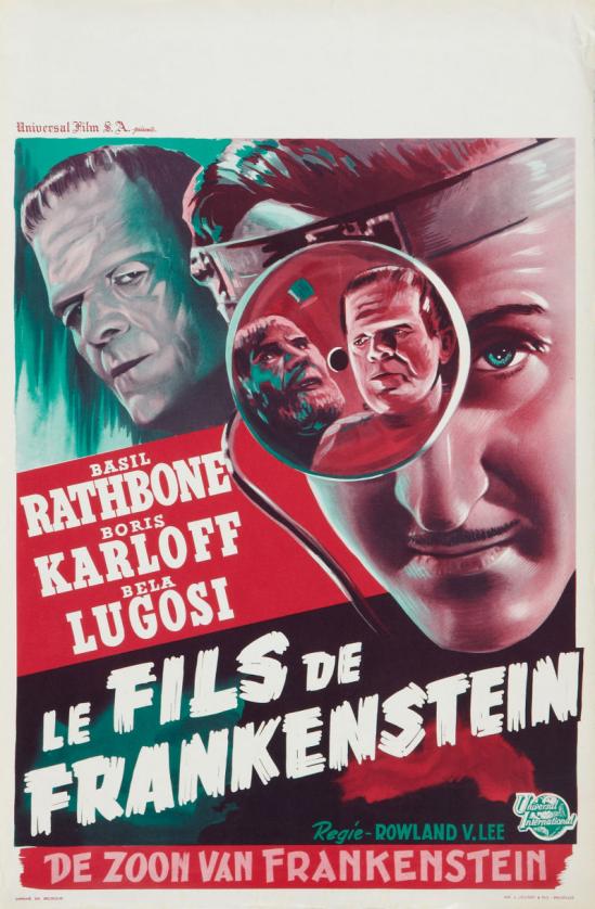 フランケンシュタインベルギーポスターの息子