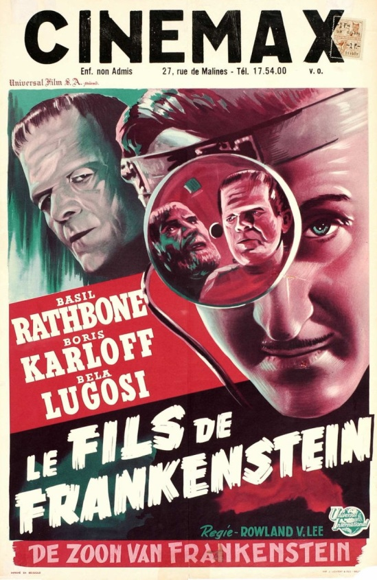 フランケンシュタイン、ベルギー、再Reの息子;ポスターc.1947を緩和