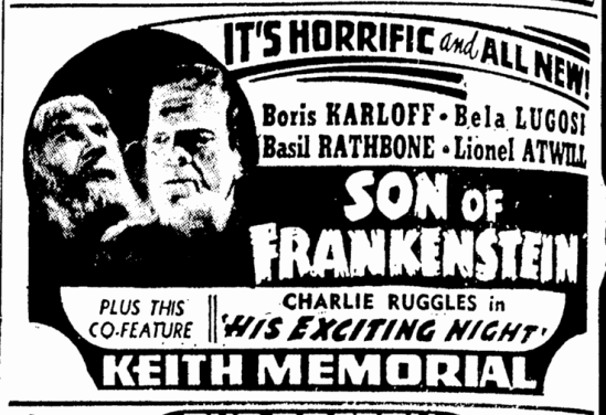 Son of Frankenstein, Boston Herald, January 14, 1939