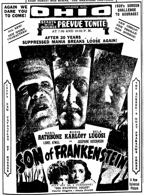 Son of Frankenstein, Canton Repository, January 19, 1939 2