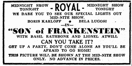 Son of Frankenstein, Columbus Daily Enquirer, June 3, 1939