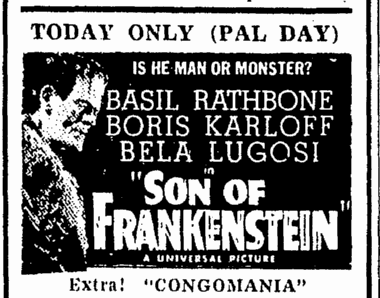 Son of Frankenstein, Daily Herald, December 4, 1940
