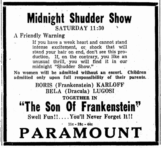 Son of Frankenstein, Daily Herald, February 10, 1939