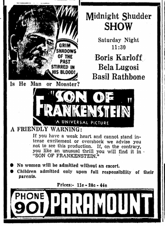 Son of Frankenstein, Daily Herald, February 6, 1939