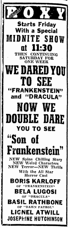 Son of Frankenstein, Daily Illinois State Journal, January 24, 1939