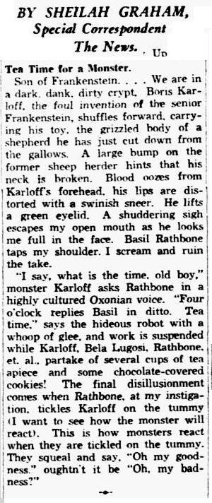 Son of Frankenstein, Dallas Morning News, December 14, 1938