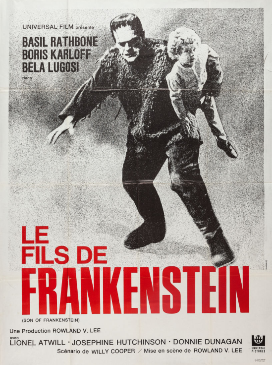 フランケンシュタインのフランス1960の再リリースグランデポスターの息子