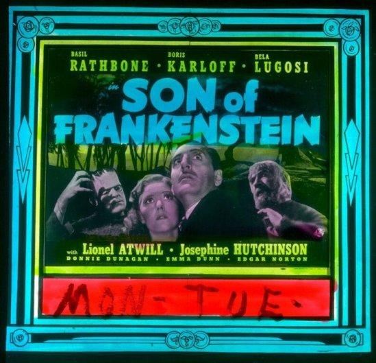 フランケンシュタインのガラススライド1の息子