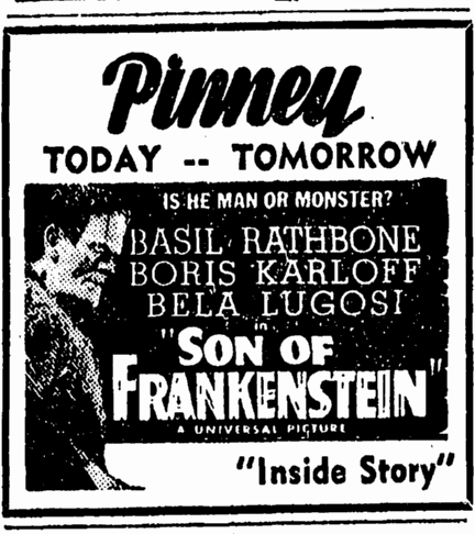 Son of Frankenstein, Idaho Statesman, March 31, 1939