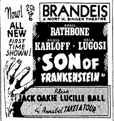 Son of Frankenstein, Omaha World Herald, January 27, 1939
