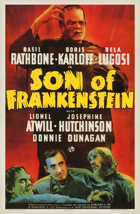 フランケンシュタインの息子1枚のポスター