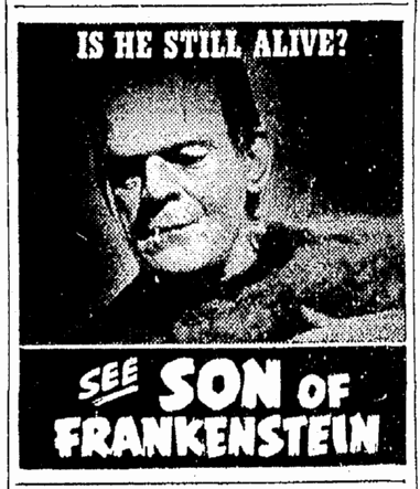 Son of Frankenstein, Oregonian, January 11, 1939