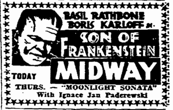 Son of Frankenstein, Rockford Morning Star, January 25, 1939