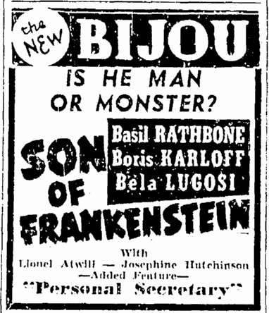 Son of Frankenstein, Springfield Republican, January 29, 1939