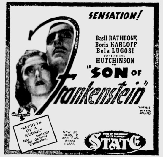 Son of Frankenstein, The Age, June 19, 1939