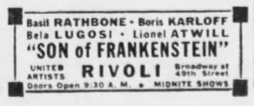 Son of Frankenstein, The Brookly Daily Eagle, January 30, 1939 2