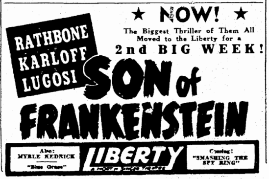 Son of Frankenstein, The Times-Picayune, January 29, 1939