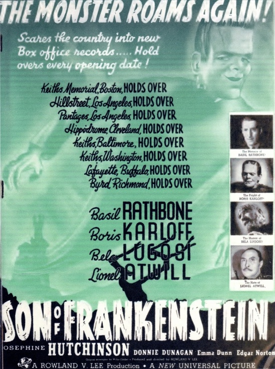 Son Of Frankenstein Trade Ad