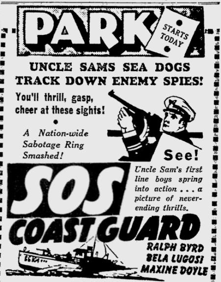 SOS Coast Guard, Reading Eagle, May 16, 1942