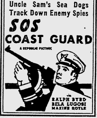 SOS Coast Guard, Reading Eagle, May 18, 1942