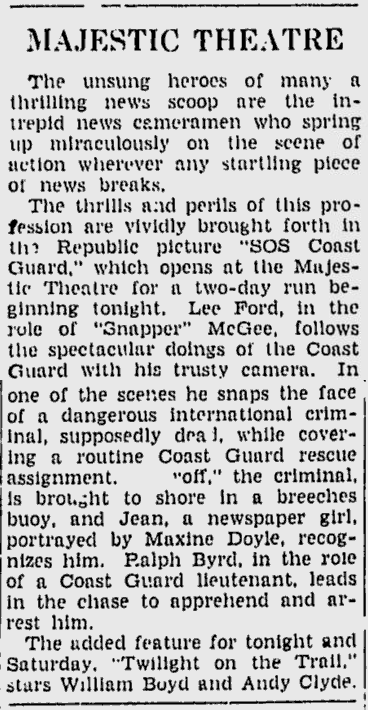 SOS Coast Guard, The Daily Times, July 3, 1942 b