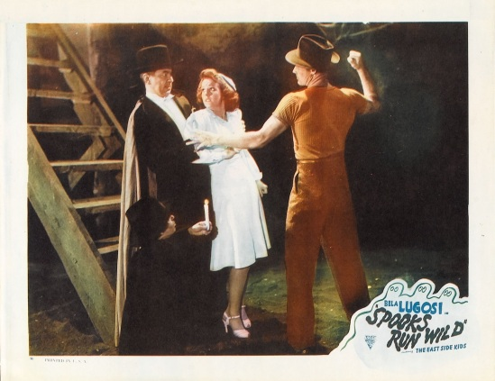 Spooks Run Wild 1949 Re-Release Lobby Card 2