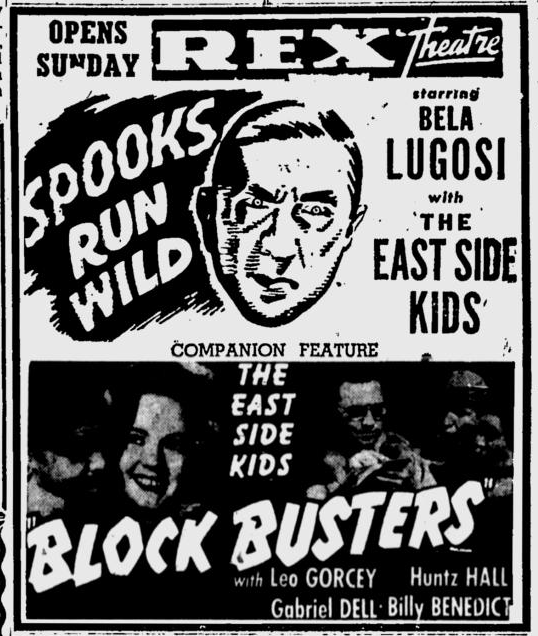 Spooks Run Wild, Eugene Register-Guard, October 4, 1952