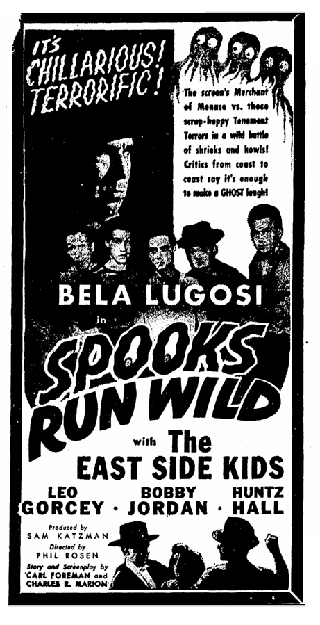 Spooks Run Wild, Greensboro Daily News, December 25, 1941