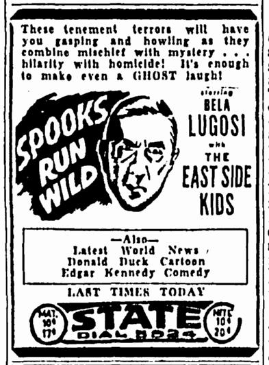 Spooks Run Wild, Greensboro Daily News, May 23, 1942