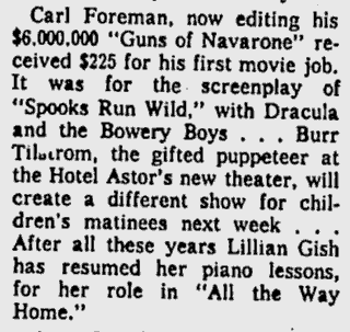 Spooks Run Wild, Lawrence Journal-World, November 10, 1960