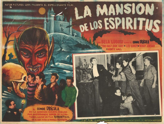 Spooks Run Wild Mexican Lobby Card Zombos
