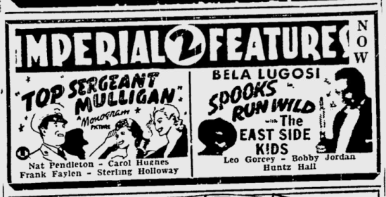 Spooks Run Wild, Ottawa Citizen, April 2, 1942
