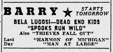 Spooks Run Wild, Pittsburgh Post-Gazette - October 28, 1941