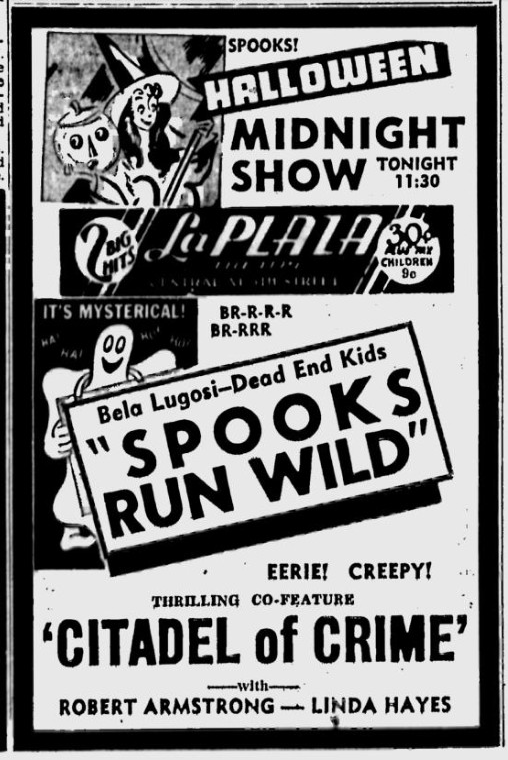 Spooks Run Wild, St. Petersburg Times, October 31, 1941 a