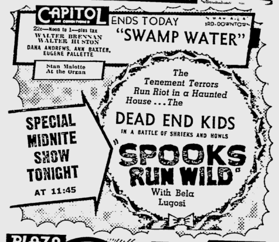 Spooks Run Wild, The Miami News, December 24, 1941