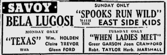 Spooks Run Wild, The Sunday Morning Star, February 1, 1942 b