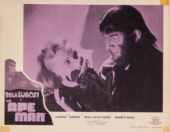 The Ape Man 1949 Re-Release Lobby Card 2