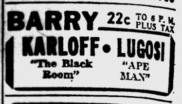 The Ape Man, Pittsburgh Post-Gazette, March 11, 1943 b