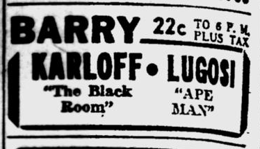 The Ape Man, Pittsburgh Post-Gazette, March 11, 1943 b