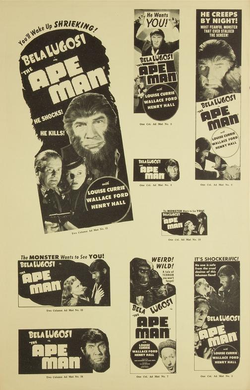 The Ape Man Pressbook 4