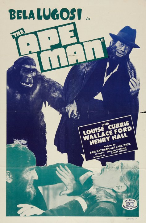 The Ape Man Reissue One Sheet